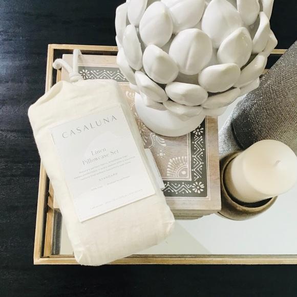 CASALUNA linen standard pillowcases-NATURAL